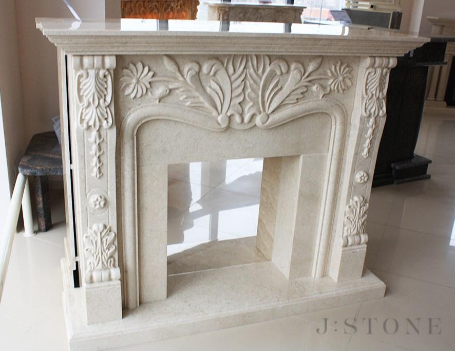 Классический портал для камина из натурального камня