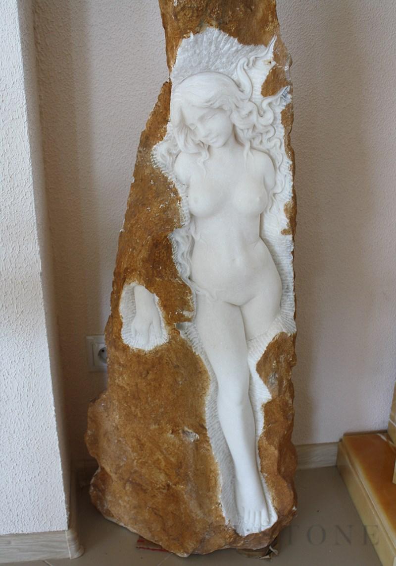 Скульптура из оникса «Дева» 80×40×130 см