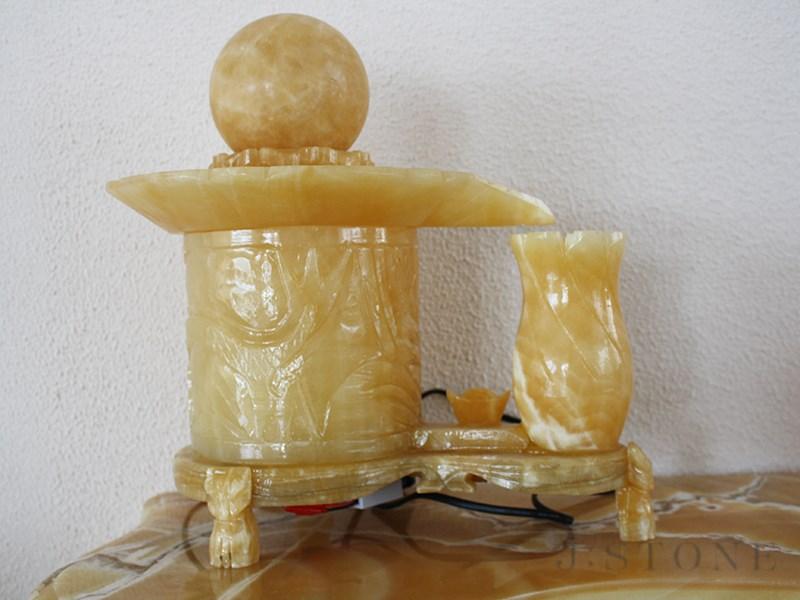 Настольный фонтан из оникса 12×27×25 см