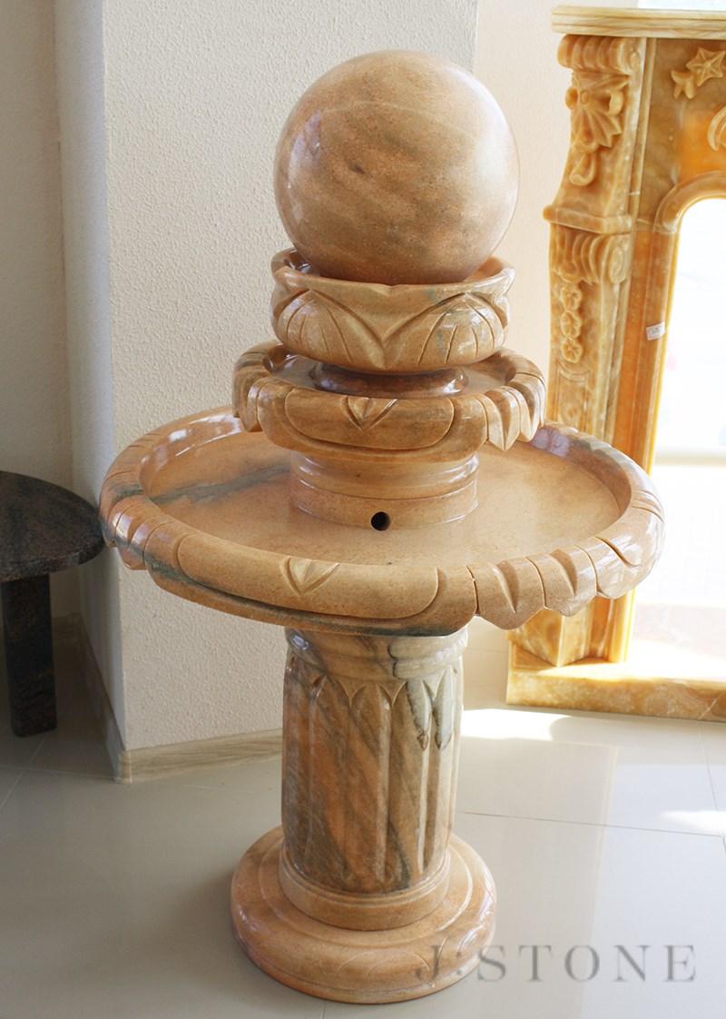 Напольный фонтан из оникса 65×65×105 см